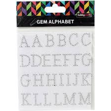 Silver Gem Serif Alphabet Letters Hobbycraft