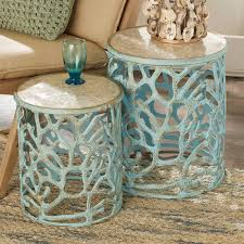 Coral Colored Decorative Accents by Mother Of Pearl Coral Accent Tables Shades Of Light