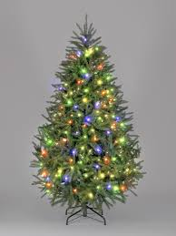 Colored Mini Christmas Trees New Snowtime 7 5 Green Pre Lit Carolina Pine Artificial Tree