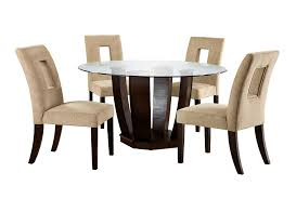 Furniture Of America Valyria 5-Piece Round Dining Table Set With 10mm  Tempered Glass Top, Espresso Finish Round Marble Table With 4 Chairs Ldon Collection Cra Designer Ding Set Marble Top Table And Chairs In Country Ding Room Stock Photo 3piece Traditional Faux Occasional Scenic Silhouette Top Rounded Crema Grey Angelica Sm34 18 Full 17 Most Supreme And 6 Kitchen White Dn788 3ft Stools Hinreisend Measurement Tables For Arg Awesome Room Cool Design Grezu Home