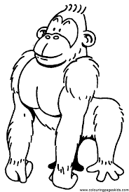 Gorilla Coloring Page 15 Smiling