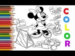 Coloring Pages Mikey Minnie Shopping