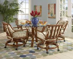 Casual Dining Sets With Caster Chairs | Modern Chair Decoration