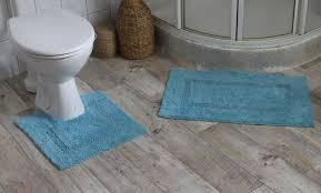 2tlg badgarnitur badematte badläufer läufer vorleger wc garnitur badteppich farbe hellblau