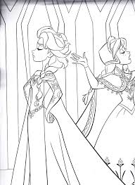 Coloring Page Frozen Save As