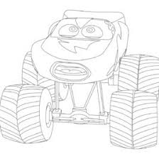 Lightning Mcqueen Monster Truck Coloring Sketch Page