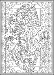Welcome To Dover Publications Creative Haven Vintage Hand Fans Coloring Book Marty Noble