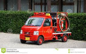 Small Japanese Fire Truck Stock Photo 58745171 - Megapixl