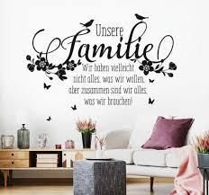 wandtattoo spruch familie zusammen zitate liebe zuhause wand
