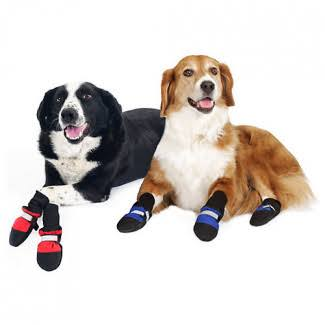 "Muttluks Fleece Lined Dog Boots - Black, XX-Small (1.5-2.25""), x4"