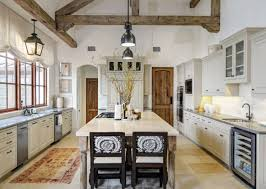 Art And Crafts Kitchen Design In Rustic Colonial Home Interior Idea