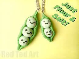 Peas In A Pod Pendants Made From This Easy Salt Dough Recipe
