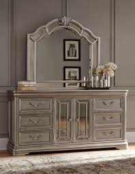 Zayley Dresser And Mirror by Birlanny Silver Dresser From Ashley Coleman Furniture