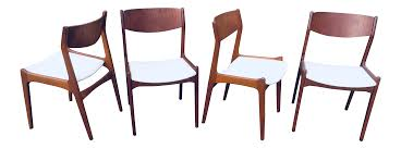 1960s Vintage Danish Modern Teak Dining Room Chairs- Set Of 4 | Chairish 1960s Ding Room Table Chairs Places Set For Four Fringed Stanley Fniture Ding Chairs By Paul Browning Set Of 6 For Proper Old Room Tempting Large Chair Pads As Well Broyhill Newly Restored Vintage Aptdeco Four Rosewood Domino Stildomus Italy Ercol Ding Room Table And 4 Chairs In Cgleton Cheshire Teak Table Greaves Thomas Mid Century Duck Egg Green Bernhardt Modern Walnut Brass Lantern Antiques Niels Otto Mller Two Model No 85 Teak