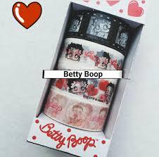 Betty Boop Bath Set by 4 Rolls Of Betty Boop Washi Tape Set Masking Tape Decorative Tape