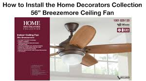 Ceiling Fan Balancing Kit Instructions by How To Install The 56 In Breezemore Ceiling Fan Youtube