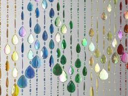 beaded door curtain multi coloured rainbow beaded curtain