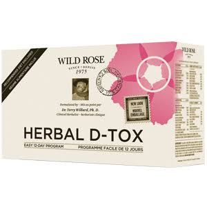 Wild Rose Herbal D-tox Supplement - 12-day Program