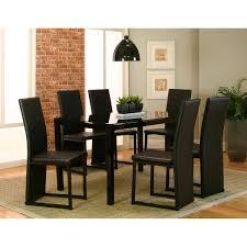 Como 7 Piece Dining Set In Black
