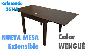 Mesa extensible wengue o cerezo de salon edor 90 180x90cm Ref