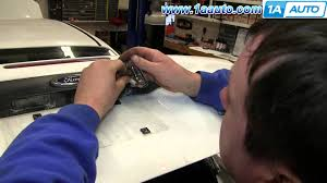how to install fix replace corroded license plate light 2000 07