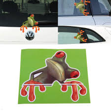 Funny Cute Green 3D Frog Car Stickers Truck Window Door Vinyl Decal ...