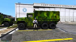 Fort Zancudo US ARMY & USMC M35A2 6x6 2 1/2 Ton Truck [Replace ...