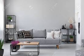 100 Modern Couch Design Copy Space On The Wall Of Scandinavian Living Room With Modern