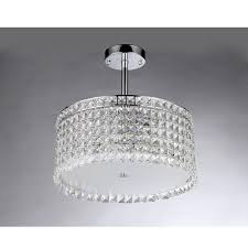 Home Depot Tiffany Style Lamps by Warehouse Of Tiffany Garcia Crystal 4 Light Chrome Chandelier With