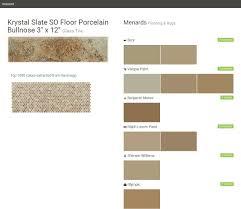 4 Inch Drain Tile Menards by Krystal Slate So Floor Porcelain Bullnose 3 Superior Menards