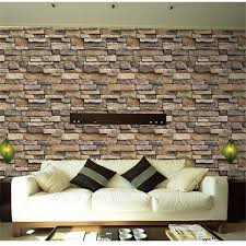45cm10m Self Adhesive Thicker Stone Wall Wallpaper For Kitchen Bathroom Home Decor 3D