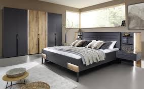 schlafzimmer valetta in graphit matt atlantic oak nachbildung hell mit beleuchtung