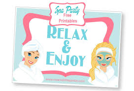 Free Spa Party Placemat