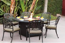 Red Patio Furniture Decor by Furniture Round Black Wrought Iron Table With Four Chair Using