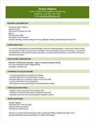 Sample Resume Format For Fresh Graduates