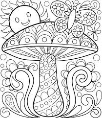 Free Coloring Toadstool Page By Thaneeya
