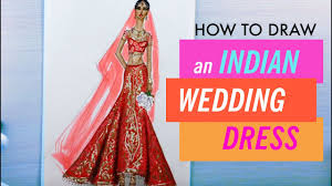 HOW TO DRAW AN INDIAN WEDDING DRESS 7