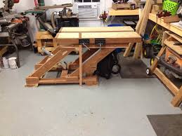 Adjustable Height Split Top Workbench Mattnc Lumberjocks Work Bench