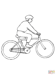 Click The Riding City Bicycle Coloring Pages