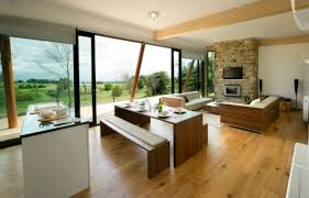 Marvelous Small Open Floor Plan Kitchen Living Room Decoration With Wooden Laminated And