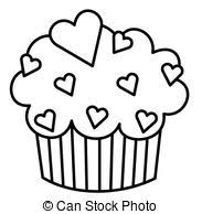 Cupcake Frame Clipartby socris794 418 Heart Cupcake Black and White illustration of a cupcake