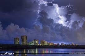 Lightning Storm Over Singer Island Florida