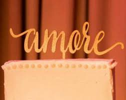 Amore Cake Topper Wedding Love Engagement