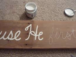 Painting A Sign Onto Barn Wood
