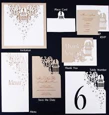 Intricate Creations Bespoke Laser Cut Wedding Invitations The