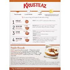 Krusteaz Pumpkin Pancakes by Krusteaz Pumpkin Pie Supreme Bar Mix 17 25 Oz Box Walmart Com