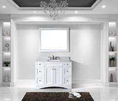 Restoration Hardware Mirrored Bath Accessories by Virtu Es 32048 Wmsq Wh Elise Single Bathroom Vanity Cabinet Set