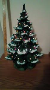 Image Is Loading 3 PIECE Vintage ATLANTIC MOLD Ceramic Christmas Tree