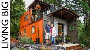 104 Building House Out Of Shipping Containers Couple Build Amazing Container Home For Debt Free Living Youtube