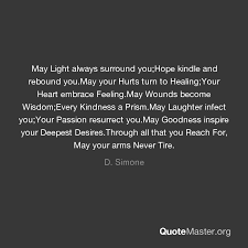 May Light Always Surround YouHope Kindle And Rebound YouMay Your